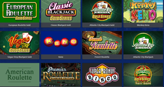All slots, casino table games