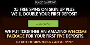 Black Diamond free spins bonus