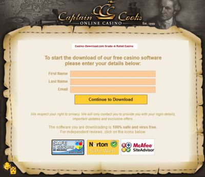 Captain Cooks Casino download