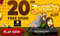 Da Vinci's Gold Casino website