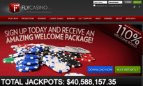 Fly Casino website