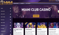 Miami Club Casino website