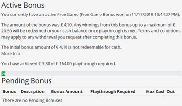 Treasure Mile bonus wager requirements